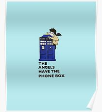 Castiel Has The Phone Box Poster