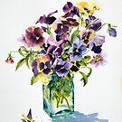 Pansies, backlit by Ann Mortimer