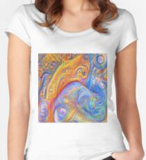 Abstraction #A Fitted Scoop T-Shirt