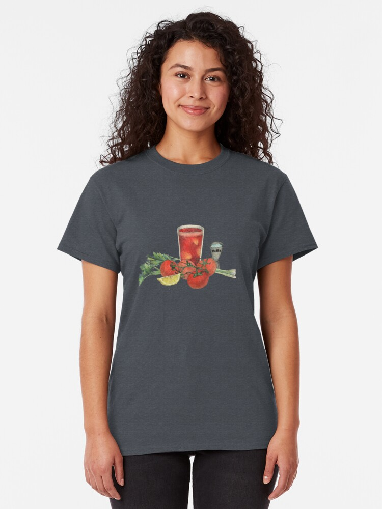 Alternate view of bloody mary recipe Classic T-Shirt