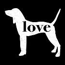 Coonhound Dog Love - A Minimalist Distressed Vintage Style Design for Dog Lovers by traciwithani