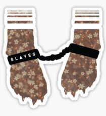 Slaves Cuffed Fox Paws Sticker