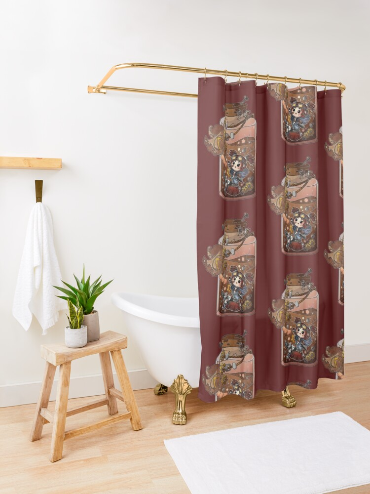 Alternate view of Gaige Potion Bottle Shower Curtain
