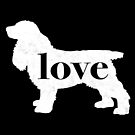 Cocker Spaniel Dog Love - A Minimalist Distressed Vintage Style Design for Dog Lovers by traciwithani