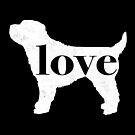 Cockapoo Dog Love - A Minimalist Distressed Vintage Style Design for Dog Lovers by traciwithani