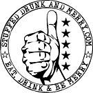 Stuffed Drunk and Merry - Full Marks Logo by jbkuma
