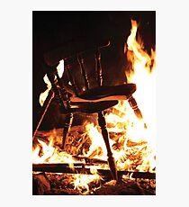 Burning Chair Photographic Print