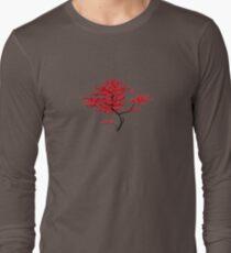 Natural Red Long Sleeve T-Shirt