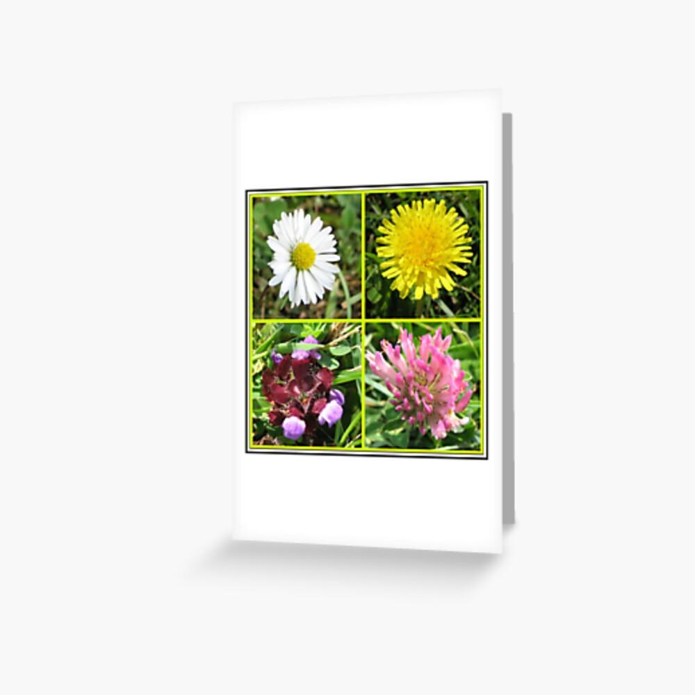 Wildflowers Collage Grußkarte