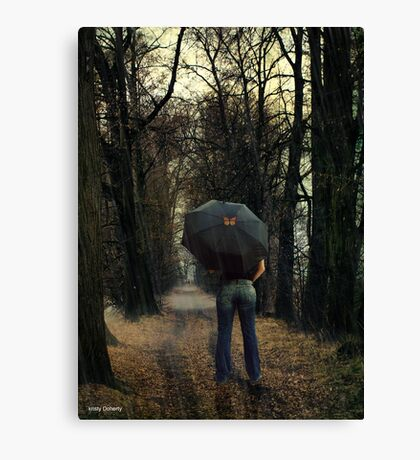 hitching a ride Canvas Print
