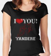 Yandere - I Heart You Women's Fitted Scoop T-Shirt