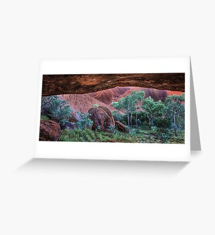 Looking Out from a Cave on Uluru Greeting Card