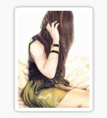 Woman on a Bed Sticker