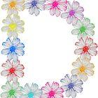 Buchstabe D aus Blumen, floral, Kosmee Blüten von rhnaturestyles