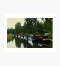 Barges Art Print