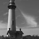 Lighthouse in B&W by Barbara  Brown