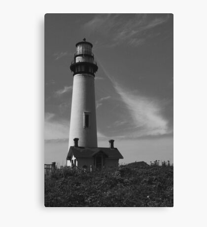 Lighthouse in B&W Canvas Print
