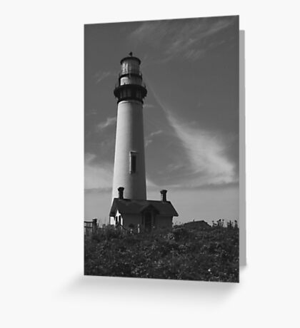 Lighthouse in B&W Greeting Card