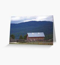 Vey Ranch - Starkey, Oregon Greeting Card