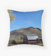 Barn at Secret Valley   Throw Pillow