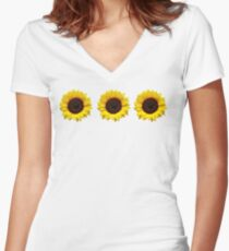 Sunflowers Women's Fitted V-Neck T-Shirt