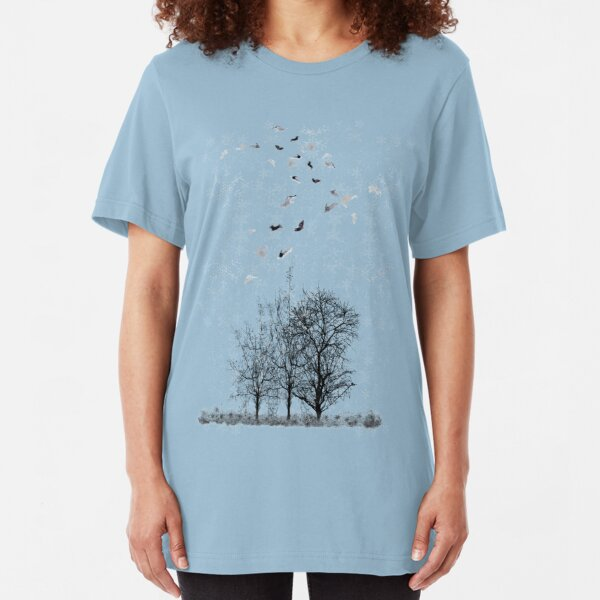 Snowflakes in the Air Slim Fit T-Shirt