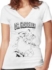 Dr. Horrible's Sing-Along Redbubble Women's Fitted V-Neck T-Shirt