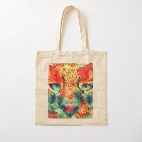 Artificial neural style wild cat Cotton Tote Bag