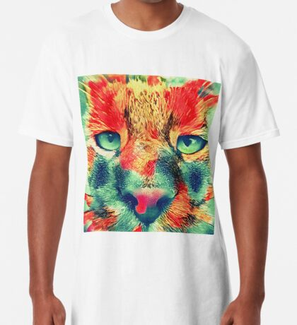 Artificial neural style wild cat Long T-Shirt