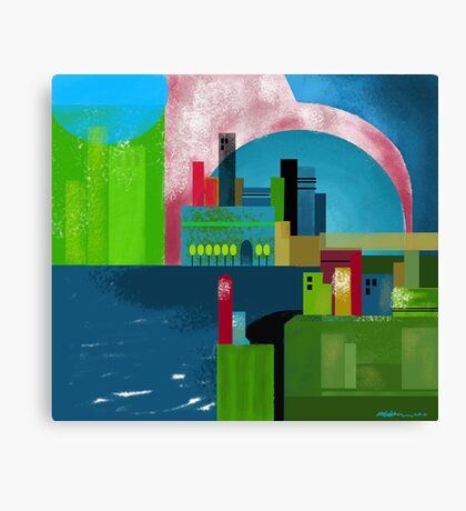 """City Across the Bay""  Canvas Print"