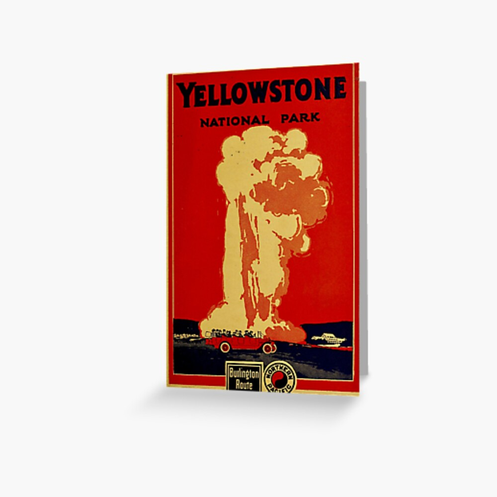Vintage Yellowstone Greeting Card