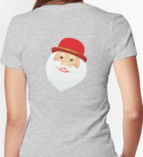 British Santa Claus  Fitted V-Neck T-Shirt