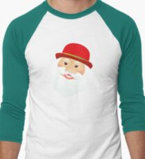 British Santa Claus  Baseball ¾ Sleeve T-Shirt