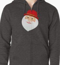 British Santa Claus  Zipped Hoodie
