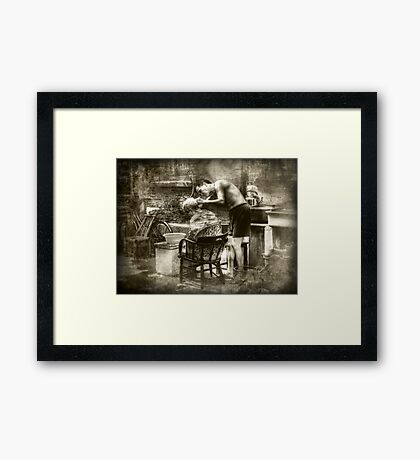 Taikang Lu Barber Framed Print