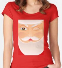 Santa Claus Fitted Scoop T-Shirt