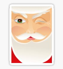 Santa Claus Glossy Sticker