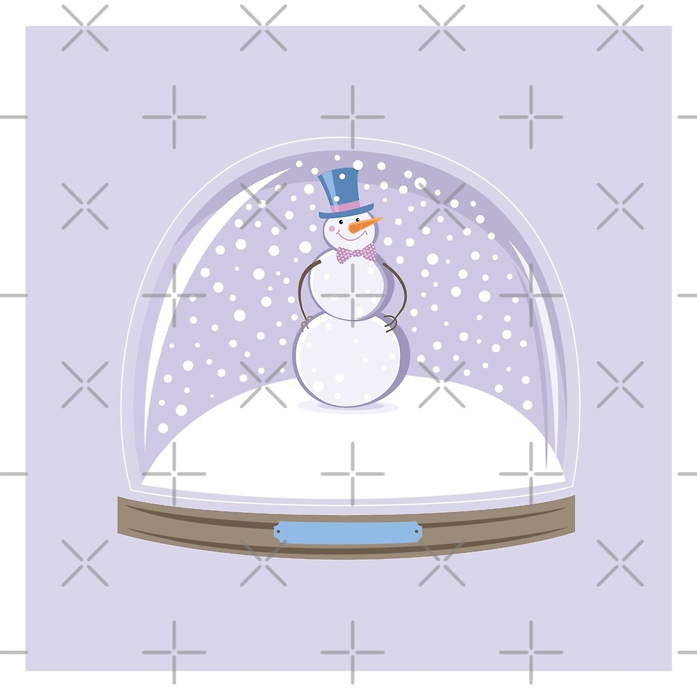 Snowman in Globe Ball by rusanovska
