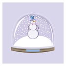 Snowman in Globe Ball by rusanovska