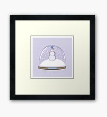 Snowman in Globe Ball Framed Print