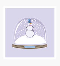 Snowman in Globe Ball Photographic Print