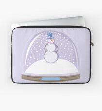 Snowman in Globe Ball Laptop Sleeve