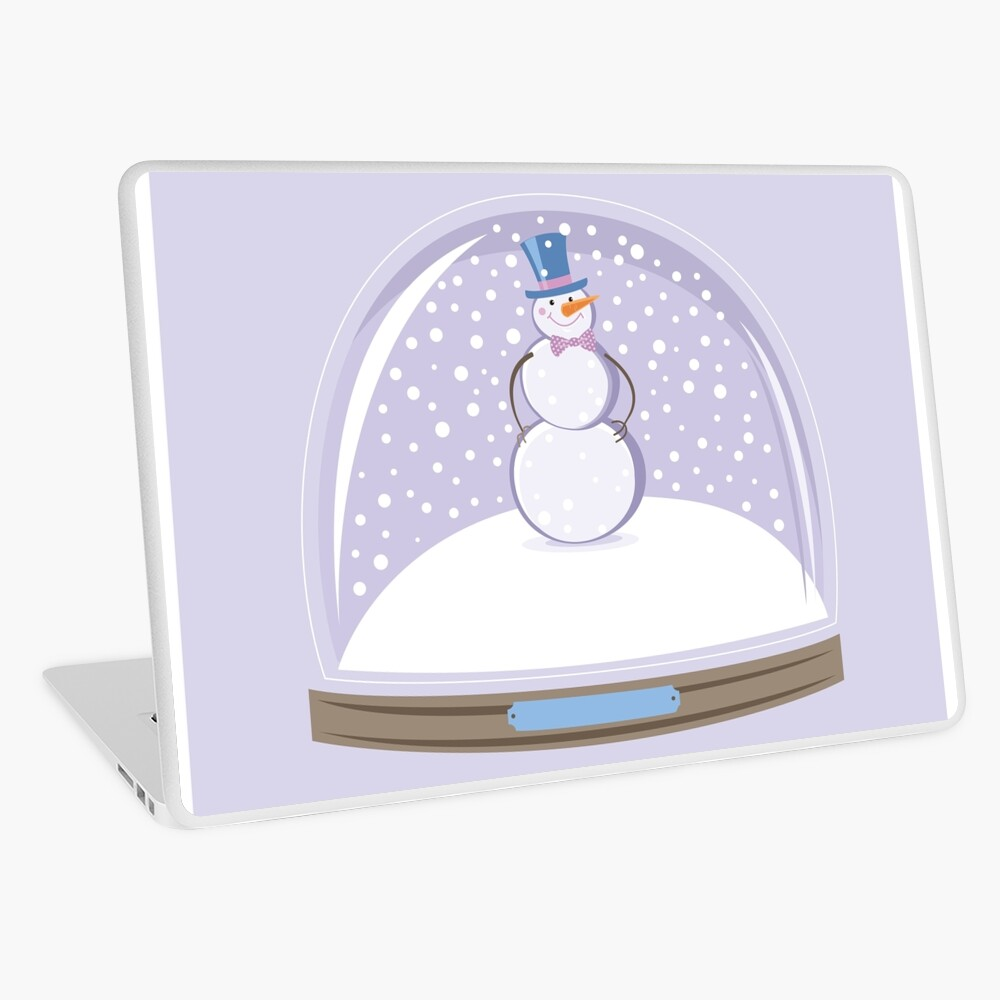 Snowman in Globe Ball Laptop Skin
