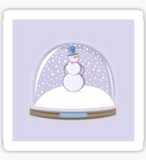 Snowman in Globe Ball Glossy Sticker
