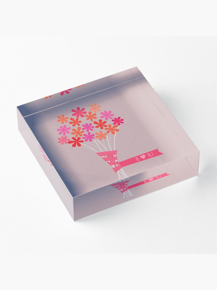 Alternate view of Flowers for You! Acrylic Block