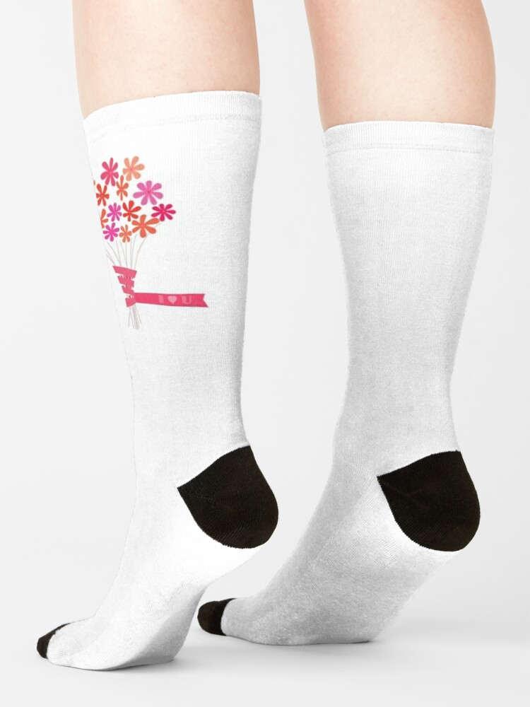 Alternate view of Flowers for You! Socks