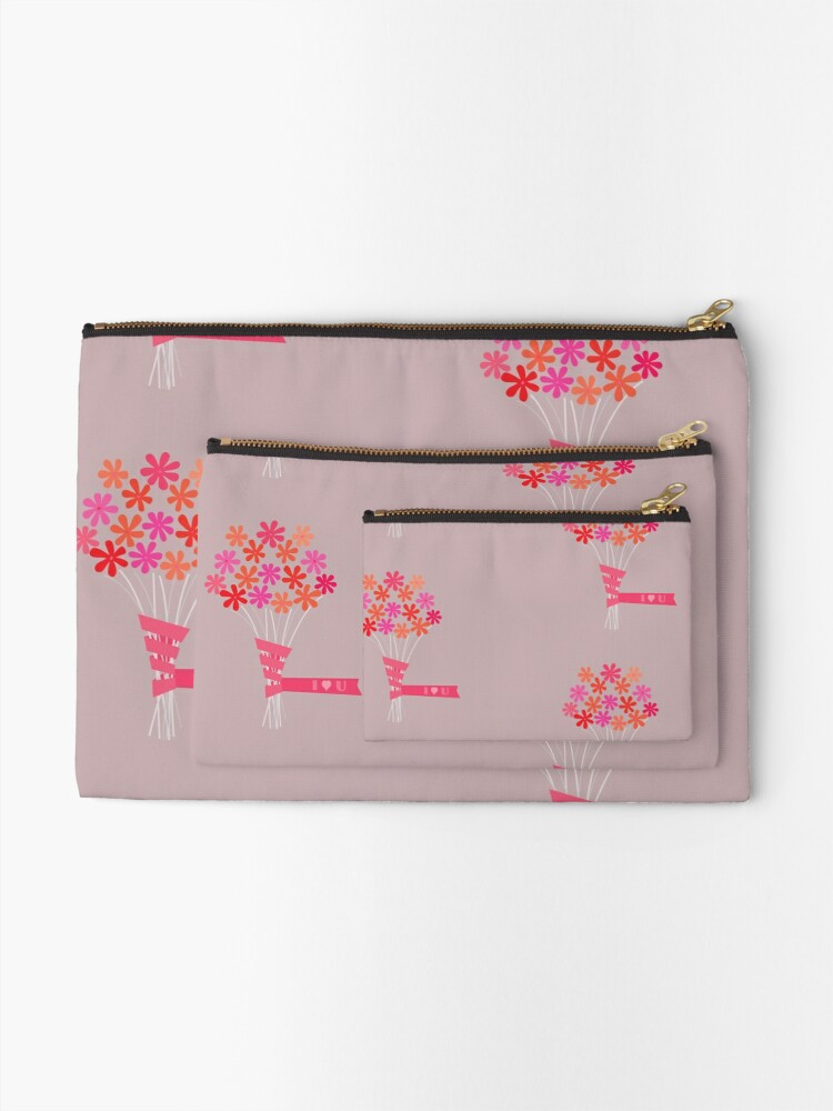 Alternate view of Flowers for You! Zipper Pouch