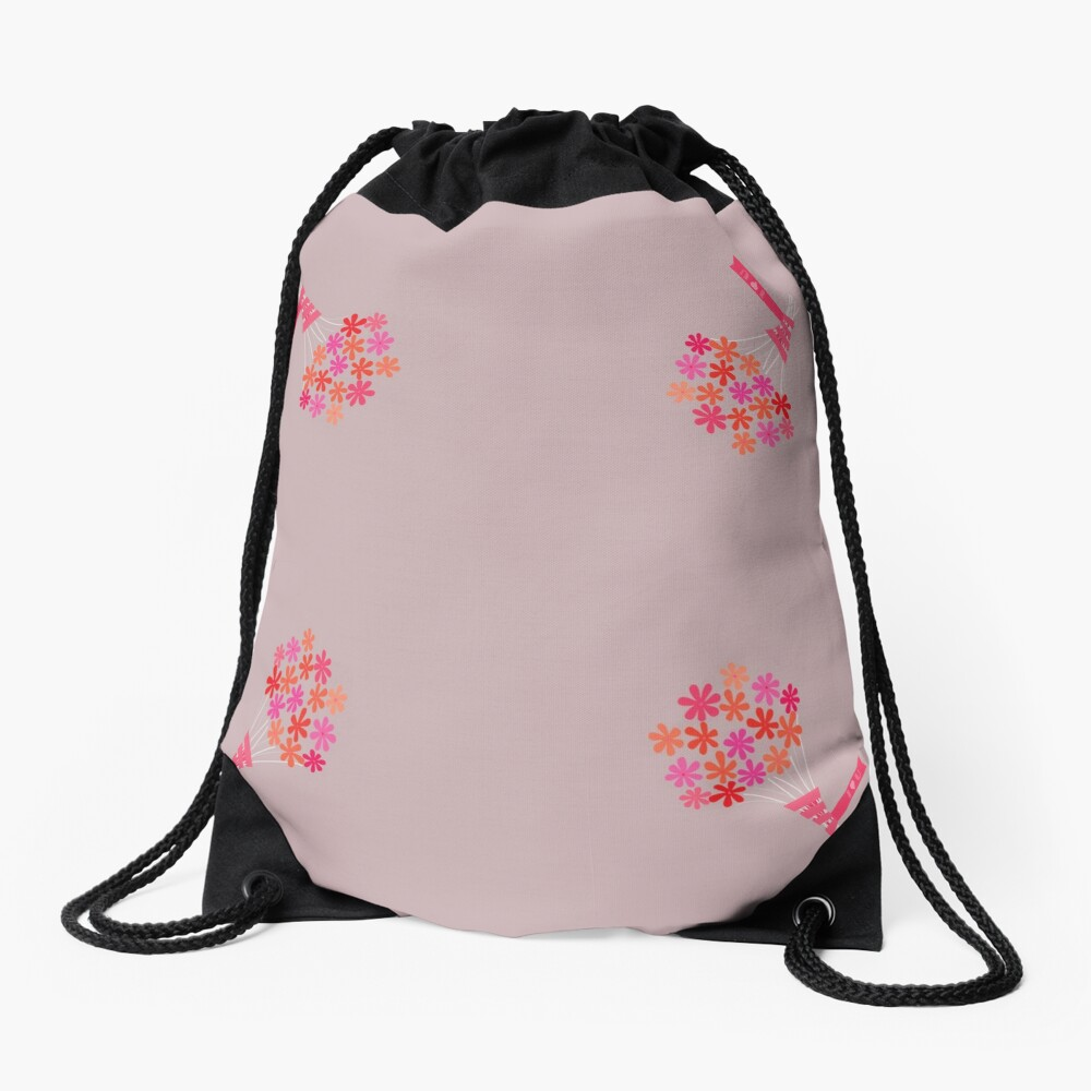 Flowers for You! Drawstring Bag