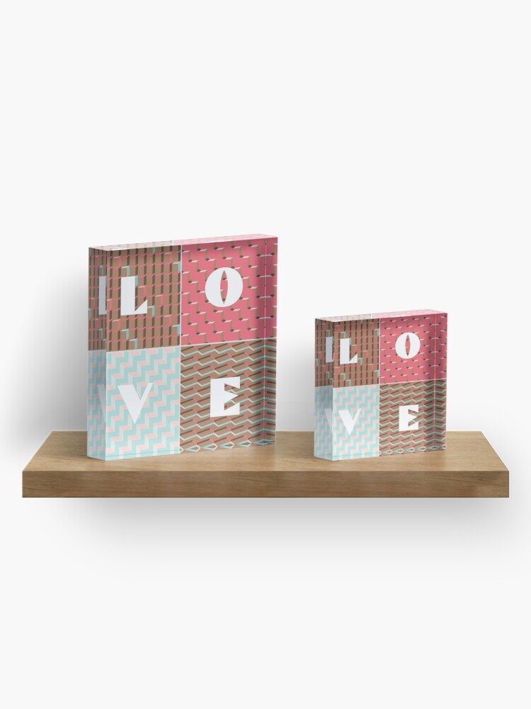 Alternate view of LOVE Acrylic Block