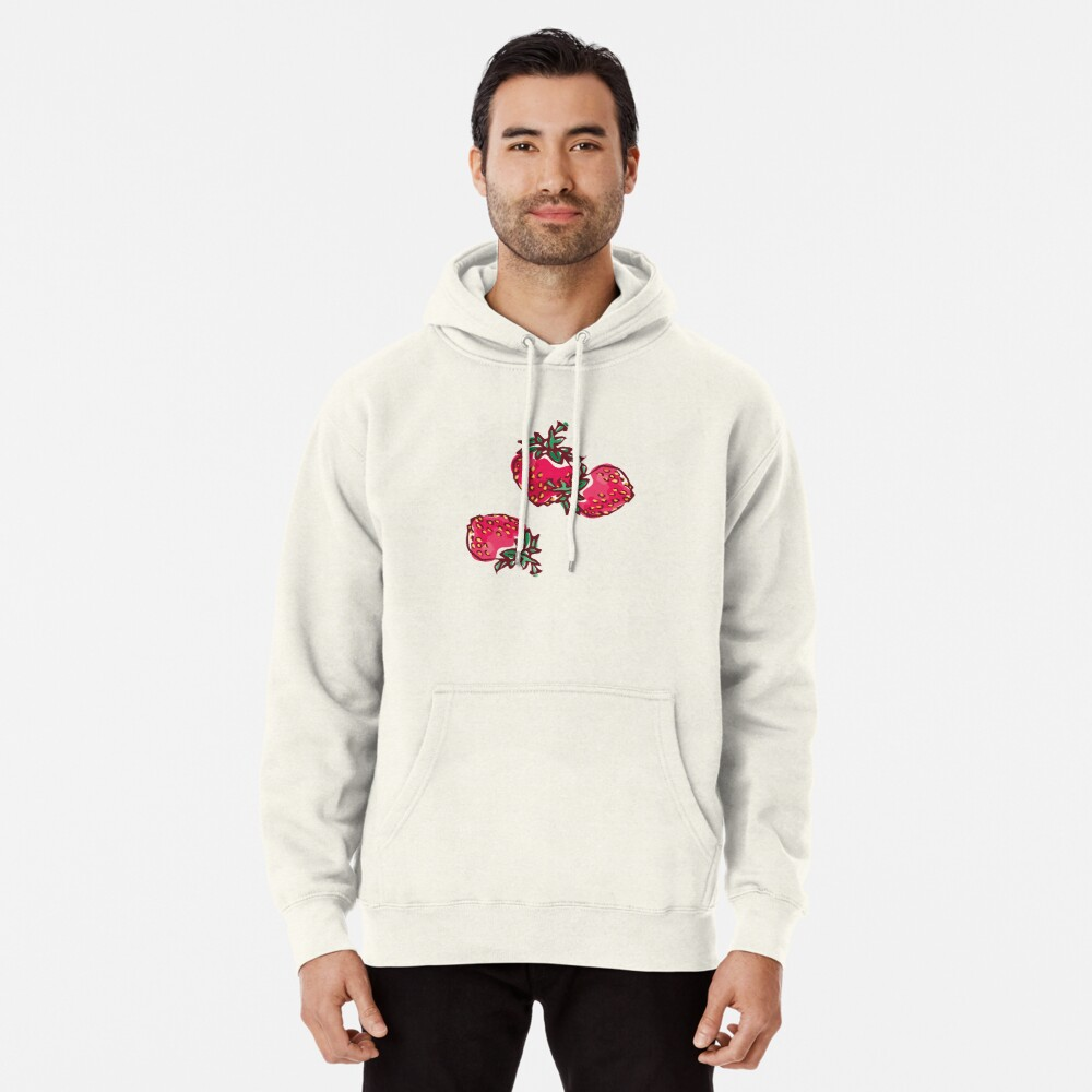 Decorative Strawberry Pullover Hoodie